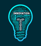 Vector word cloud of innovation light bulb / vector illustration eps-10. - 135256528