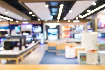 Abstract Blur People in Shopping Mall