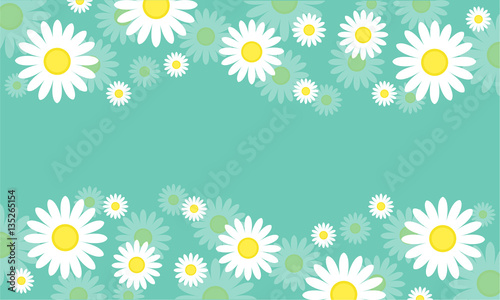 Poster Groene koraal Beauty background spring style collection