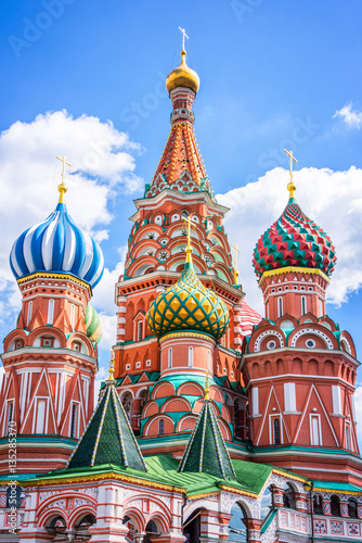 Poster St Basil's cathedral on Red Square, Moscow, Russia