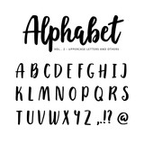 Hand drawn vector alphabet, font. Isolated letters written with marker or ink, brush script. - 135292937