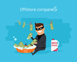 Offshore Companies Concept Flat Design Vector