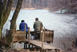 Fisherman in st helene lake, Savoy