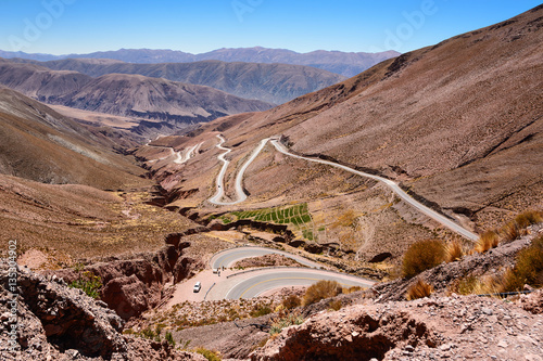 Poster Curves of ruta 52 from Purmamarca to Salinas Grandes