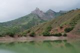 mountainous lake in Zelenogorie, Crimea