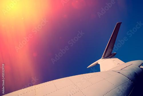 Zdjęcia fragment of the old airplane fuselage
