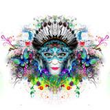 Абстрактный и мистик женщина лицо красочные иллюстрации