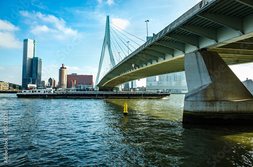 Erasmus Bridge.Erasmusbrug in Rotterdam, Netherlands