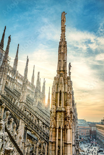 View from the Milan Cathedral Poster