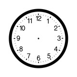 clock face blank isolated on white background  - 135336717
