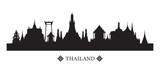 Tajlandia Skyline i sylwetka, gród, atrakcje turystyczne i tła