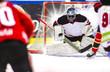 Ice Hockey Goalie - Light burst in the background