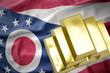 shining golden bullions on the ohio state flag