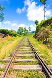 Haputale Hill Country Train Tracks Centered V