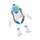 astronaut in space character vector illustration design - 135389129