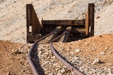 Mine tracks left over from an abandoned lead mine inside Death Valley National Park