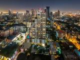 High view of Bangkok at nigh