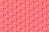 Many pink hearts make diagonal pattern on pink background