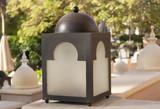 Vintage street lantern cube lampot photo - 135411558