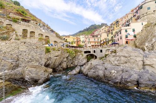 Manarola town, Riomaggiore, La Spezia, Liguria, northern Italy Poster