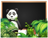 Board template with panda in the woods