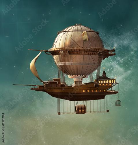 Steampunk fantasy sterowiec