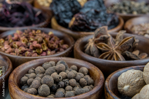 Poster Allspice Berries Among Other Spices