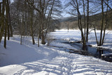 Idyllic small river in the wInter