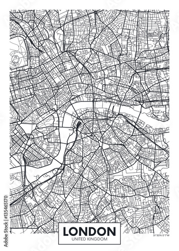 Vector poster map city London