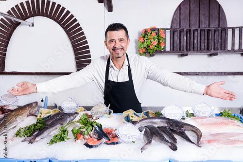Keuken foto achterwand Palermo Fishmonger