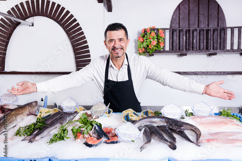 Staande foto Palermo Fishmonger
