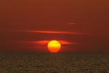 Landscape of sunset with at Nai Yang Beach, Phuket Province, Tha