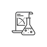 Science Application line icon, outline vector sign, linear pictogram isolated on white. Symbol, logo illustration