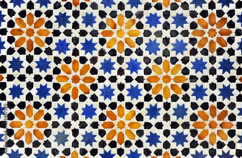 Fototapeta Azulejo de estrellas de estilo árabe