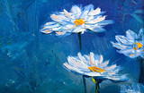 Oil painting Daisy flowers - 135490522