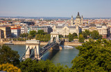 The Chain Bridge in Budapest, Hungary