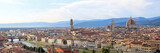 fantastic wide view of Florence with Palazzo Vecchio and the Arn