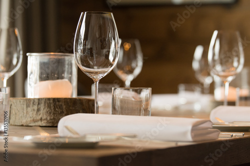 Elegant decorated table