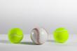 tennis and baseball balls