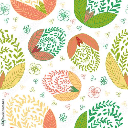 Cotton fabric Colorful seamless pattern with easter egg.