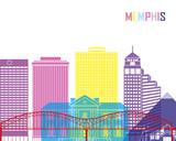 Fototapety Memphis_V2 skyline pop