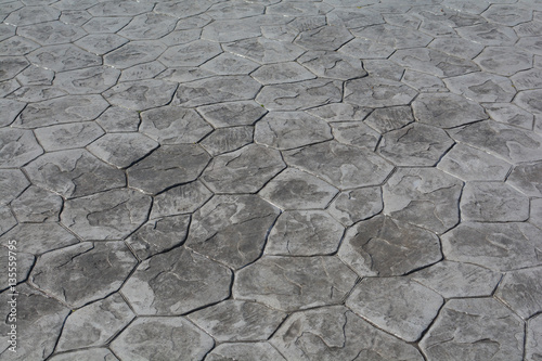 Foto op Plexiglas Stenen Stamp Concrete floor texture pattern and background.