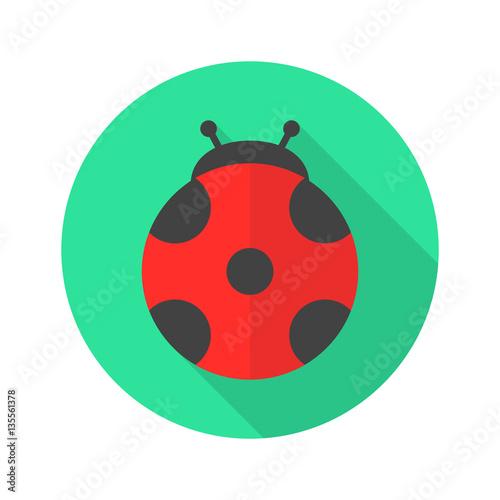 Ladybug flat design icon