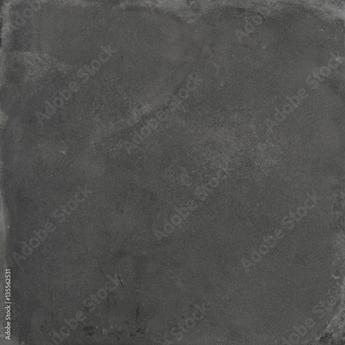 Poster Betonbehang Dark grey dirty splotchy concrete square texture 01