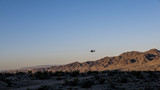 Helicopter in the desert