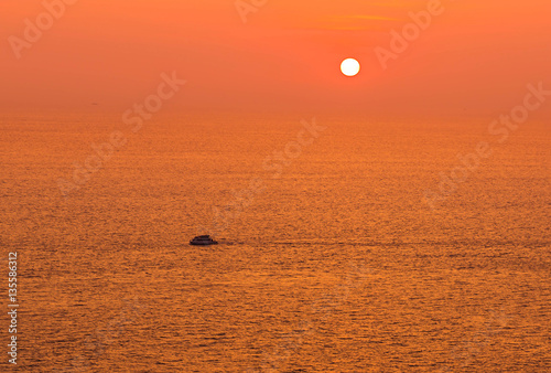 Foto op Canvas Baksteen sunset on tropical beach at andaman sea in thailand