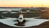 Jets on the tarmac in Kyiv Airport