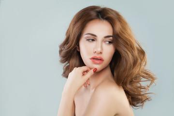 Beauty Portrait of Cute Woman Model