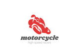 Motorcycle motor bike Logo design vector. Moto silhouette icon