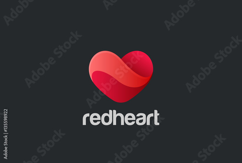Heart Logo design vector. Valentine day love. Cardiology Medical - 135598922